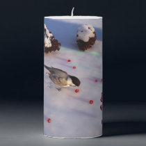 Chickadee Winter Candle
