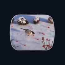 Chickadee Winter Candy Tin