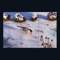 Chickadee Winter Canvas Print