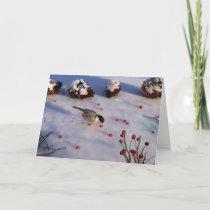 Chickadee Winter Card