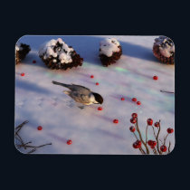 Chickadee Winter Flexible Magnet