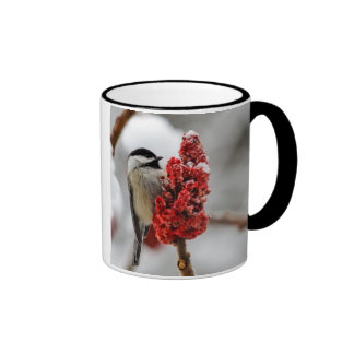 Chickadee Winter Holiday Mug