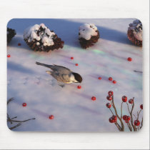 Chickadee Winter Mousepad