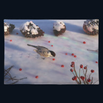 Chickadee Winter Placemat