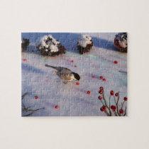 Chickadee Winter Puzzle
