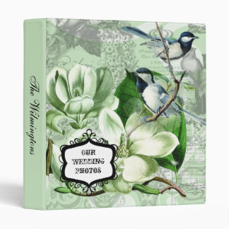 Chickadees and Magnolias Photo Wedding Binder