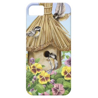 Chickadees Birdhouse iPhone SE/5/5s Case