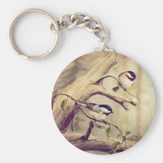 CHICKADEES by SHARON SHARPE Keychain