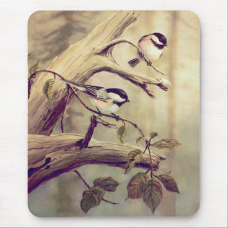 CHICKADEES by SHARON SHARPE Mouse Pad