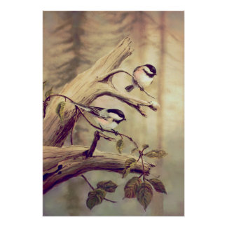 CHICKADEES - Canvas Print