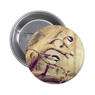 CHICKADEES de SHARON SHARPE Pin Redondo 5 Cm