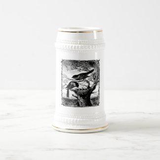 Chickadees in a nest coffee mug