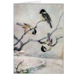 Chickadees in the Snow Card