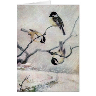 Chickadees in the Snow Greeting Card