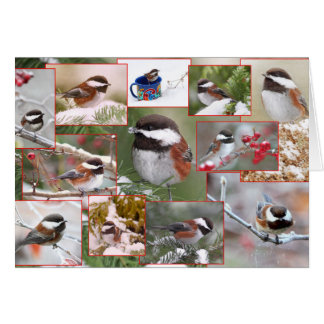 Chickadees in Winter Collage Card