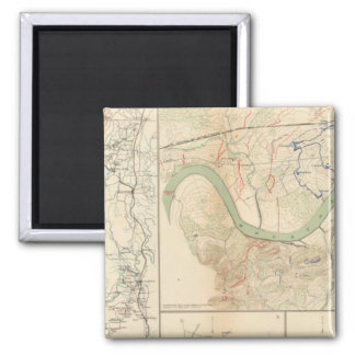 Chickamauga campaign, Knoxville 2 Inch Square Magnet
