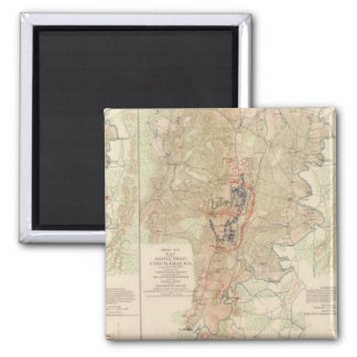 Chickamauga, Turkeytown Valley 2 Inch Square Magnet