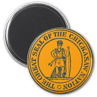 Chickasaw 2 Inch Round Magnet