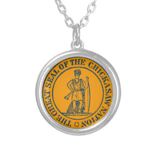 Chickasaw Seal Round Pendant Necklace