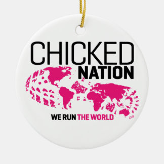 Chicked Nation Round Ornament