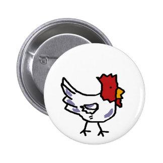 chicken 2 inch round button