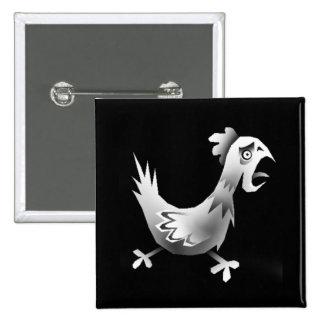 Chicken! 2 Inch Square Button