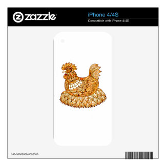 Chicken 2 iPhone 4 decal
