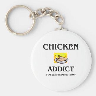 Chicken Addict Keychain
