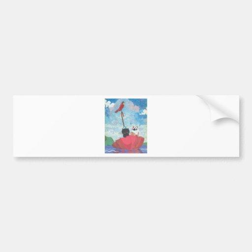Chicken and Cricket Collage Bumper Sticker