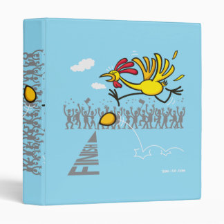 Chicken and Egg 3 Ring Binder