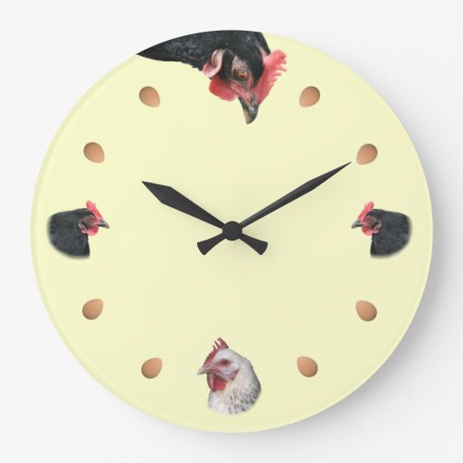 Chicken and egg wall clock