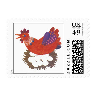 Chicken and eggs stamps