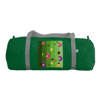 chicken and flowers gym duffel bag