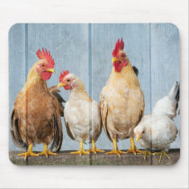 Chicken and Friends Mouse Pad