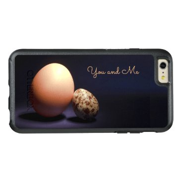 Chicken and quail eggs in love. Text «You and Me». OtterBox iPhone 6/6s Plus Case