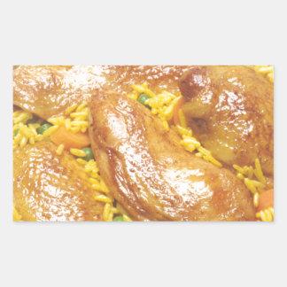 Chicken and Rice Rectangular Sticker