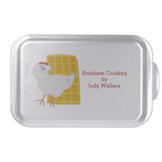 Chicken and Waffle Custom Covered Baking Pan Cake Pan