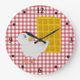 Chicken and Waffle Funny Kitchen Wall Clock