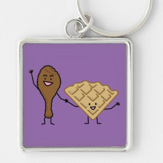 Chicken and Waffles American & Southern Cooking Keychain