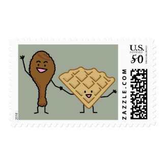 Chicken and Waffles American & Southern Cooking Postage