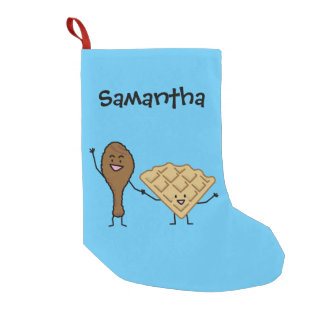 Chicken and Waffles American & Southern Cooking Small Christmas Stocking