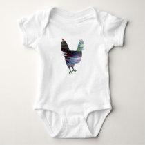 Chicken Art Baby Bodysuit