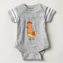 Chicken art nursery baby bodysuit