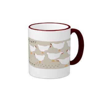 Chicken Art with scratch prints mug