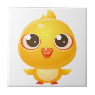 Chicken Baby Animal In Girly Sweet Style Tile