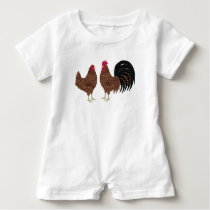 Chicken Baby Romper