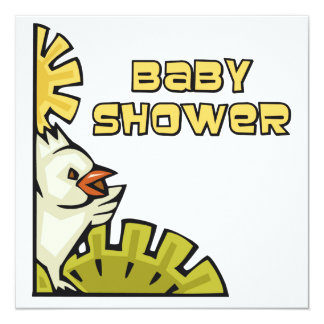Chicken Baby Shower Card