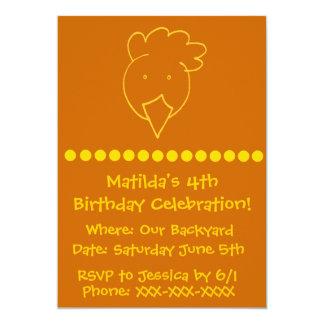 Chicken Backyard Birthday Party Card