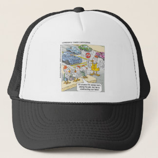 Chicken Barriers Funny Cartoon Gifts & Tees Trucker Hat