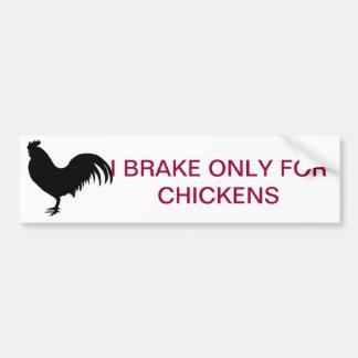 CHICKEN BRAKE BUMPER STICKERS